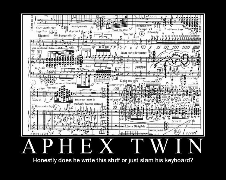Bladmuziek Aphex Twin!